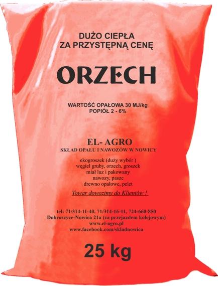 Węgiel ORZECH CZERWONY